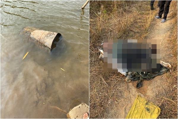 ผงะ!พบศพชายปริศนาถูกฆ่ายัดถัง 200 ลิตรทิ้งกลางหนองน้ำหมู่บ้าน