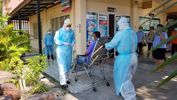 สาธารณสุขเพชรบุรี จัดซ้อมแผนเผชิญเหตุ การระบาดของโรคติดเชื้อไวรัสโควิด-19