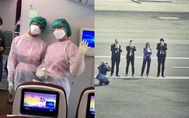 """เรื่องประทับใจ """"การบินไทย"""" จัดเครื่องบินรับผู้โดยสารกลุ่มสุดท้ายกลับประเทศไทยก่อนปิดอิตาลีประเทศ"""