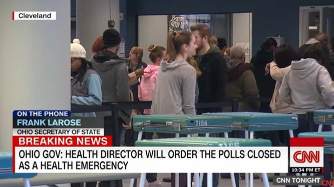 """In Clip: รัฐโอไฮโอยกเลิกเลือกตั้งไพรมารีของสหรัฐฯวันนี้ กัน """"โคโรนาไวรัส"""" แต่อีก 3 รัฐยังคงเดินหน้า"""