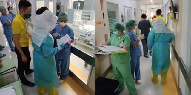 แพทย์เผย เมื่อของป้องกันตัวขาดมือต้องใช้ถุงพลาสติกธรรมดาหุ้มเท้าแทนถุงกันน้ำ