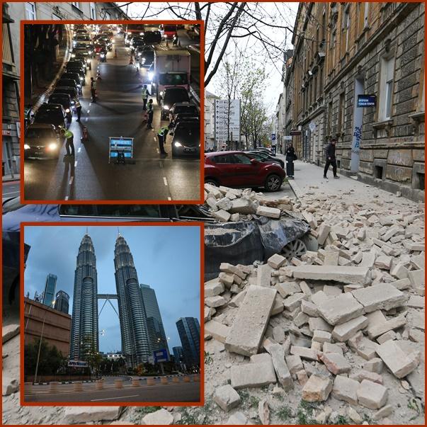 In Clip: แผ่นดินไหว 5.3  เขย่าโครเอเชีย มีเจ็บสาหัส 1 เยอรมัน-อิหร่าน –ไทย ยอดติดเชื้อพุ่ง มาเลเซียส่งกองทัพลงถนน