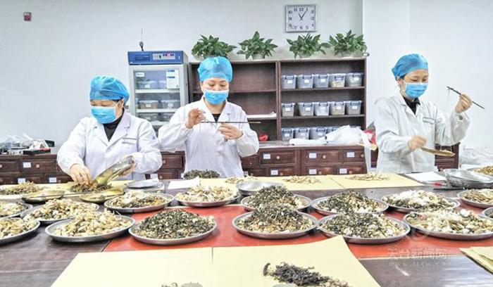 ใช้ตำรับยาแพทย์แผนจีนสู้โรค (ภาพจาก Tiantai news)