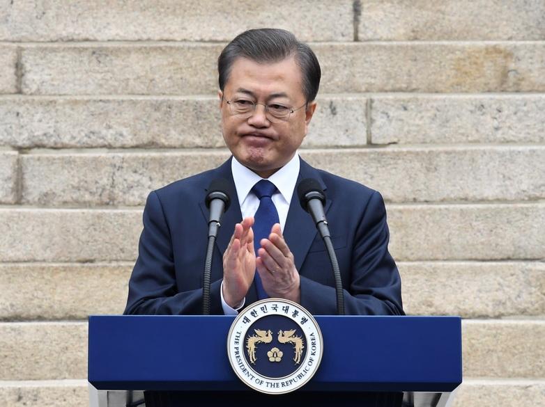 ประธานาธิบดี มุน แจอิน แห่งเกาหลีใต้