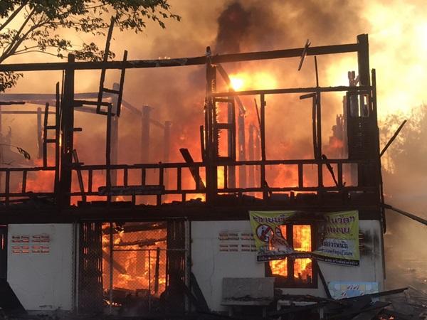 เกิดเหตุไฟไหม้วัดแสวงหา พระดับในกองเพลิง2 รูป