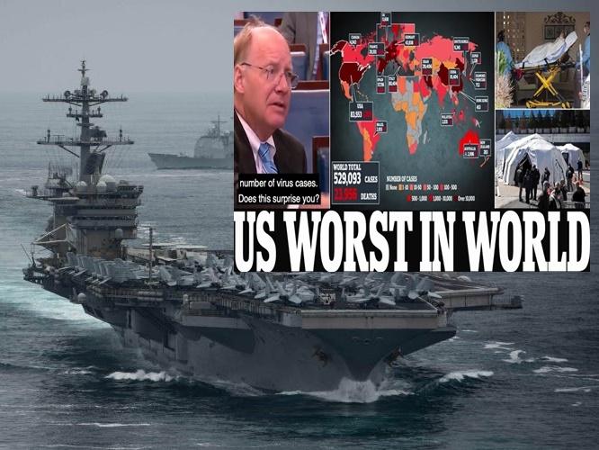 """In Pics&Clip: ผู้เชี่ยวชาญอังกฤษเชื่อยอดเสียชีวิต """"โควิด-19"""" ปีนี้อาจถึง 1.8 ล้านถึงแม้ใช้มาตรการแข็งกร้าว   """"USS ธีโอดอร์ โรสเวลต์"""" มีลูกเรือติดเชื้อ"""
