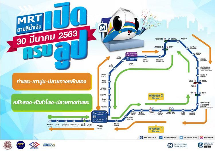รฟม.-BEM แนะวิธีเดินทางแบบครบลูป ด้วยรถไฟฟ้าสาย สีน้ำเงิน และ สีม่วง