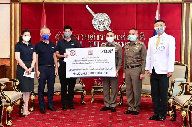 กัลฟ์มอบเงินจัดซื้อเครื่องช่วยหายใจให้รพ.ตำรวจ