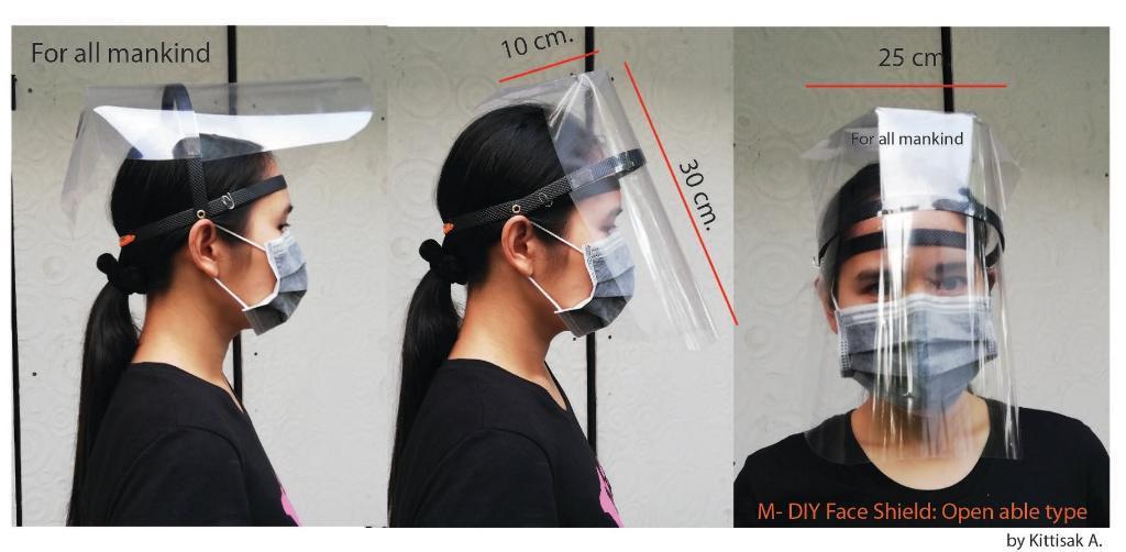 แห่แชร์ไอเดียเจ๋ง!! DIY Face Shield ต้นทุนแค่ 8 บาท