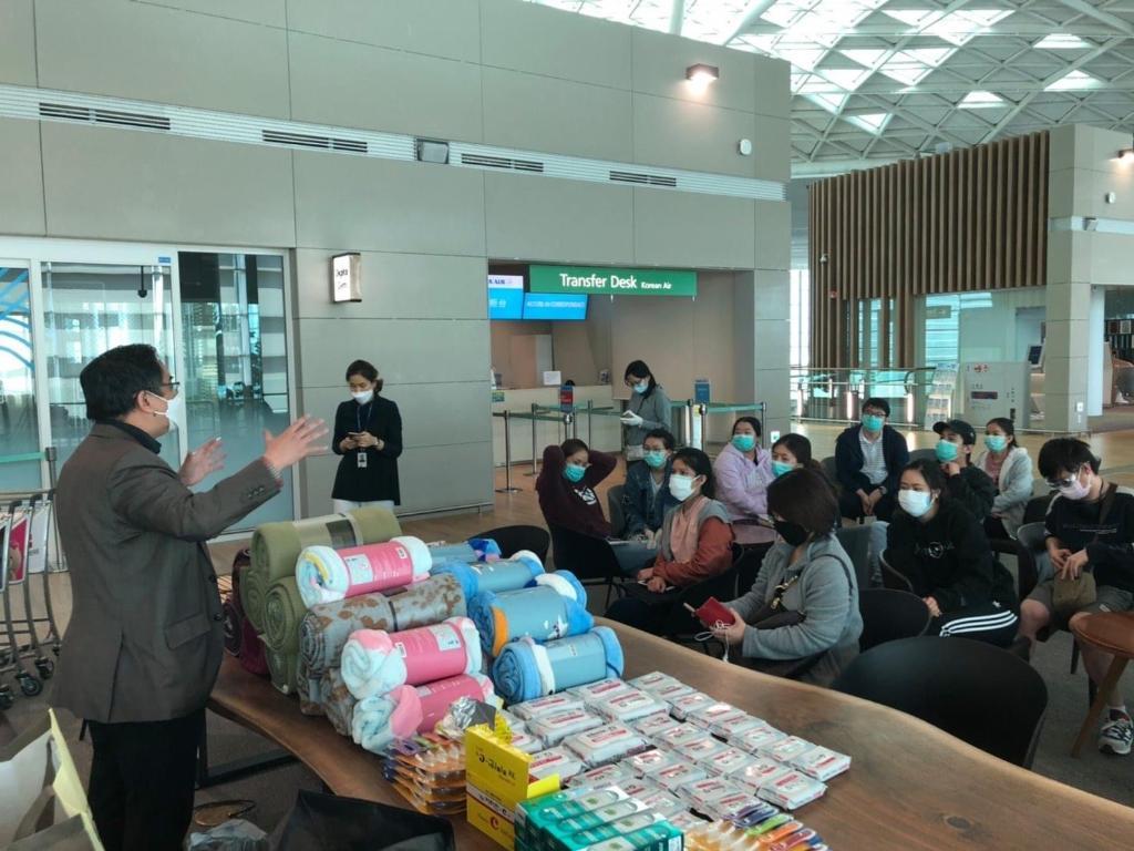 สถานทูต ณ กรุงโซล ให้ความช่วยเหลือคนไทยติดค้างที่สนามบินอินซอน
