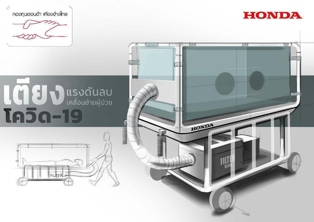 """กลุ่มบริษัท """"ฮอนด้า"""" เปลี่ยนโรงงานผลิตรถ เป็นผลิตเตียงเคลื่อนย้ายผู้ป่วยติดเชื้อ"""