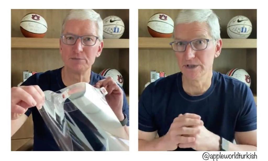 ทิม คุ้ก แถลงความคืบหน้าเฟซชิลด์ยี่ห้อแอปเปิ้ล