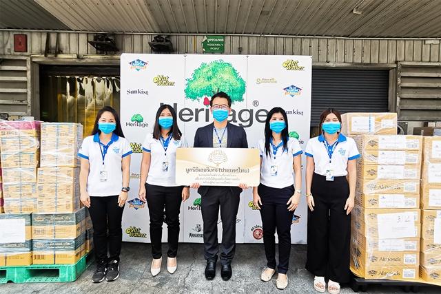 มูลนิธิเฮอริเทจประเทศไทย ส่งมอบผลิตภัณฑ์ในเครือเฮอริเทจ เพื่อช่วยเหลือเจ้าหน้าที่จากวิกฤตไฟป่าที่ จ.เชียงใหม่