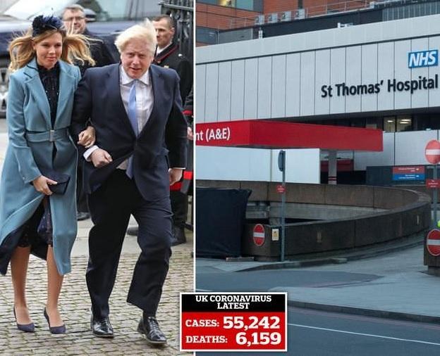 """In Pics: """"บอริส จอห์นสัน"""" นอนไอซียูต่อเป็นวันที่ 2 แต่ไข้ลดแล้ว  ถนนดาวนิงปฎิเสธข้อเสนอทรัมป์ใช้ """"บ.ยาอเมริกัน"""" รักษาผู้นำอังกฤษ"""