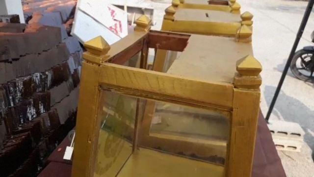 จับสึกทันควัน!พระเฒ่าทำทีขอจำวัด ตกดึกงัดตู้บริจาคสร้างวิหารเฉย