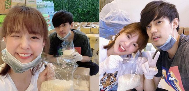 """คู่รักตัวอย่าง """"แดน-แพทตี้"""" แพ็กถุงยังชีพช่วยคนไทยผ่านวิกฤตโควิดไปด้วยกัน"""