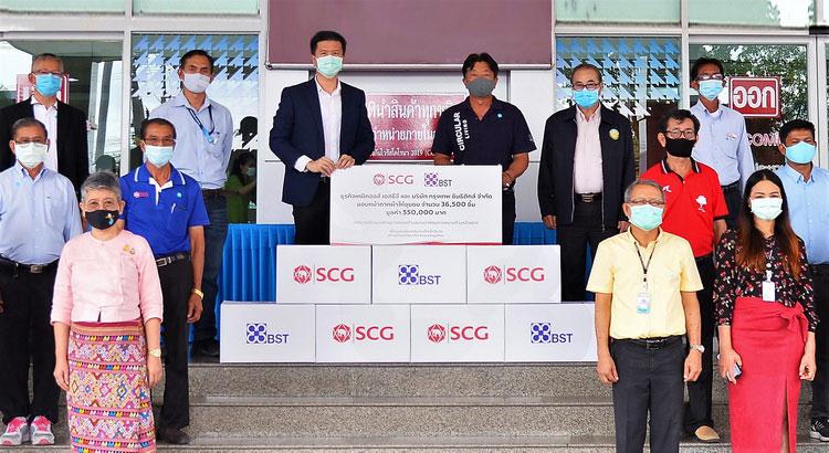 SCG-BTS ร่วมมอบหน้ากากผ้าให้ชุมชน เชื่อมั่นใส่หน้ากากช่วยสู้โควิด-19 ได้