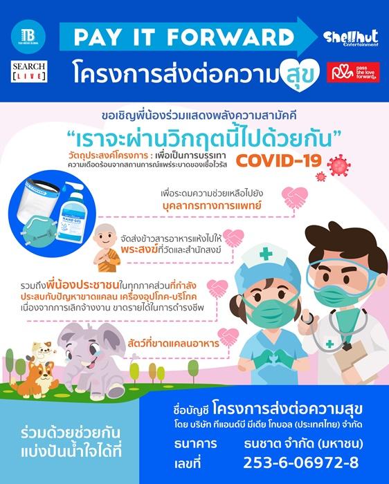 """""""ทีแอนด์บีฯ""""เปิดโครงการ""""ส่งต่อความสุข"""" ช่วยคนไทยผ่านวิกฤตโควิด 19 ไปด้วยกัน"""
