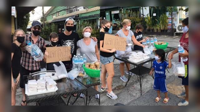 คนไทยฝากขอบคุณ ครอบครัวฝรั่ง แจกน้ำดื่ม-อาหาร ชาวภูเก็ตที่เดือนร้อนทุก 5โ มงเย็น