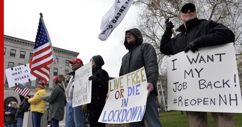 อเมริกันแห่ชุมนุมต่อต้านล็อกดาวน์ ทรัมป์ถือหางทวีตเรียกร้องเปิดเมือง