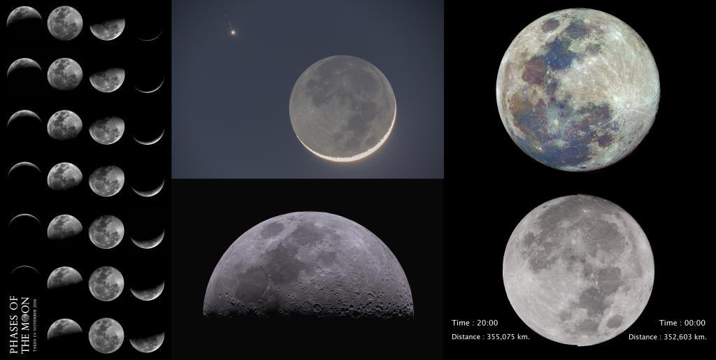 """ความรู้จากภาพถ่าย """"ดวงจันทร์"""" ในช่วงวันอยู่บ้านหยุดเชื้อเพื่อชาติ"""