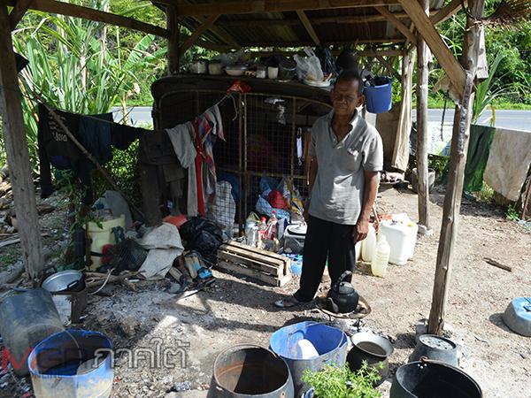 ชาวบ้านเบตงวอนรัฐเข้าช่วยลุงวัย 60 ไร้บ้านอยู่ ซ้ำร้ายเจอโควิดทำตกงานขาดรายได้ไร้ข้าวกิน