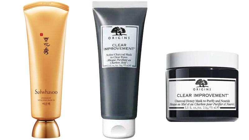 Sulwhasoo Overnight Vitalizing Mask EX 120 ml. ราคาพิเศษ 1,440 บาท, ORIGINS Clear Improvement Charcoal Honey Mask ราคาพิเศษ 900 บาท และ ORIGINS Clear Improvement Active Charcaol Mask ราคาพิเศษ 1,350 บาท