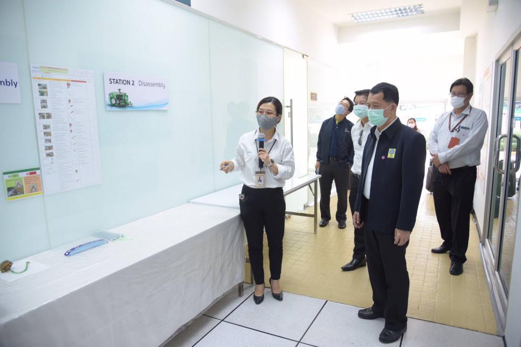 วช. เยี่ยมชมศูนย์ซ่อม Bird Ventilator, Negative pressure room และ AGV นวัตกรรม