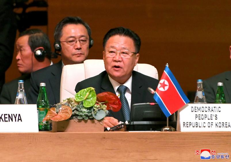 โช รยอง-แฮ (Choe Ryong Hae) ประธานคณะกรรมาธิการบริหารแห่งสภาประชาชนสูงสุดเกาหลีเหนือ