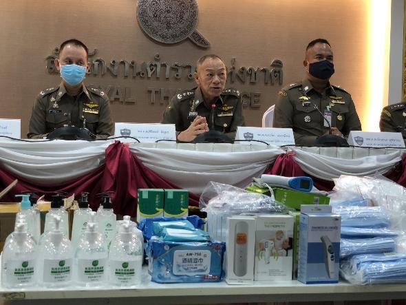 รวบ 2 หนุ่มแดนมังกร นำเข้าหน้ากากอนามัยขายเกินราคา ยึดเจลแอลกอฮอล์ เซ็กส์ทอย น้ำมันกัญชง มูลค่ากว่า 5 ล้าน