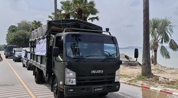 กองทัพเรือ  จัดคาราวานข้าว 10,000 กล่องส่งถึงมือ ปชช.ใน อ.สัตหีบที่เดือดร้อนจากพิษโควิด-19