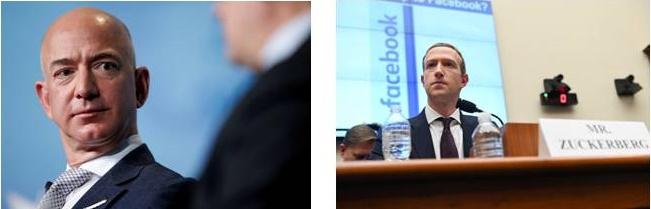 เจฟฟ์ เบซอส ซีอีโอบริษัท Amazon        -   มาร์ค ซัคเคอร์เบิร์ก ผู้ก่อตั้งเฟซบุ๊ก