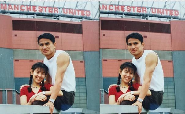 """รักไม่ยอมเปลี่ยนแปลง! """"ซิโก้"""" หวานโพสต์ภาพคู่ภรรยาเมื่อ 20 ปีที่แล้ว"""