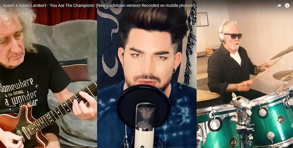 ควีน+อดัม แลมเบิร์ต ใน You Are the Champions