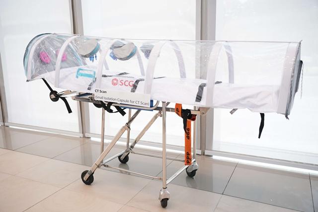 แคปซูลเคลื่อนย้ายผู้ป่วยความดันลบขนาดเล็ก สำหรับเข้าเครื่อง CT Scan