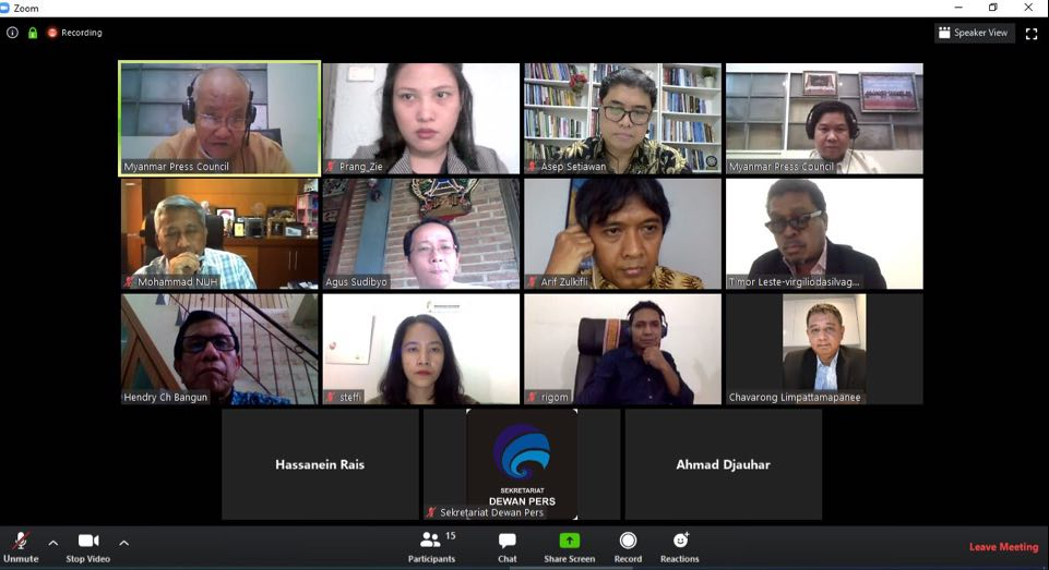 """SEAPC-Net ประชุมทางไกลสื่ออาเซียน ย้ำยึดมั่นจริยธรรมรายงานข่าว""""โควิด-19"""""""