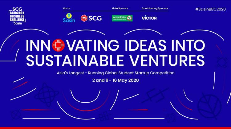 เอสซีจี-ศศินทร์ ร่วมจัด SCG Bangkok Business Challenge @ Sasin 2020 แข่งแผนธุรกิจบนแพลตฟอร์มออนไลน์ครั้งแรก