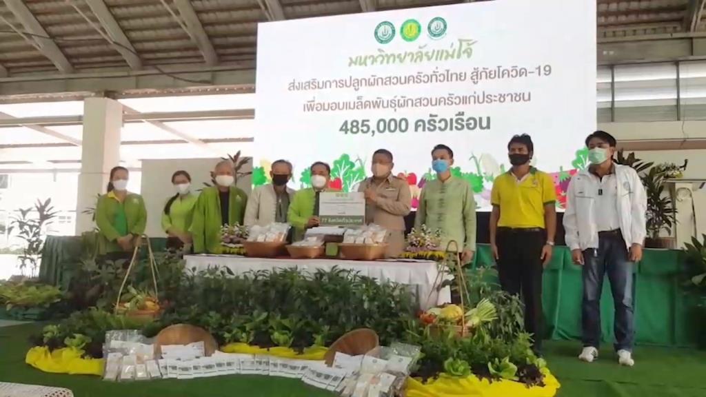 ม.แม่โจ้ส่งมอบเมล็ดพันธุ์ผักสวนครัวเกือบ 5 แสนชุดแจกจ่ายถึงครัวเรือน 77 จว.ทั่วไทย ปลูกกินเลี้ยงชีพสู้โควิด-19