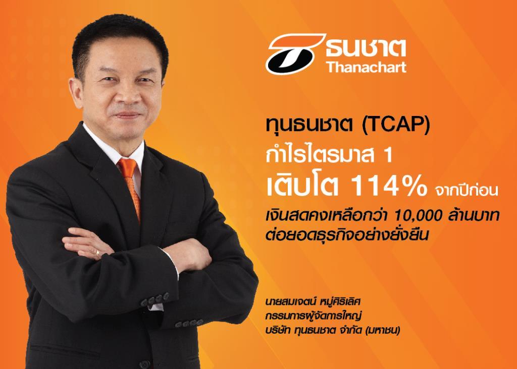 TCAPกำไรQ1โต114%-เล็งลงทุนต่อยอดธุรกิจอย่างยั่งยืน