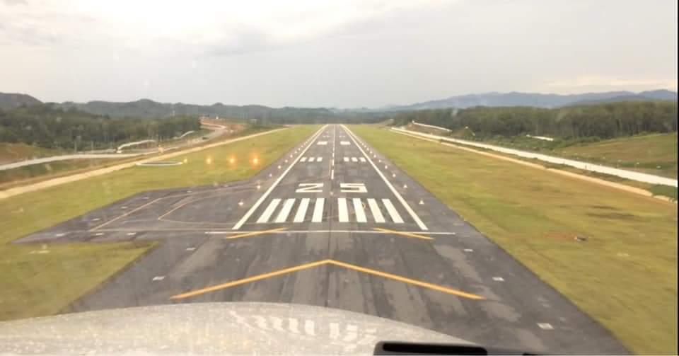 บินสำรวจ!ทดสอบทัศนวิสัย เตรียมเปิดสนามบินเบตง
