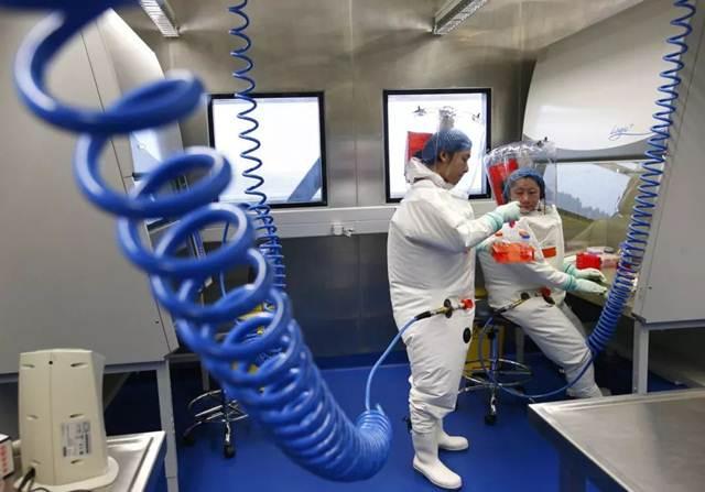 ภายในห้องทดลองของสถาบันไวรัสวิทยาเมืองอู่ฮั่น