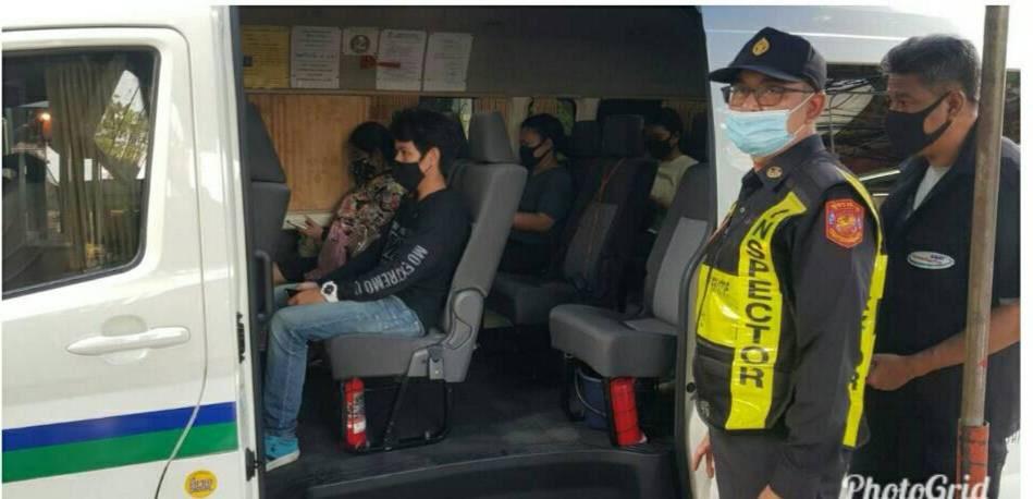 ตรวจเข้มรถโดยสารทุกประเภท ป้องกันโควิด