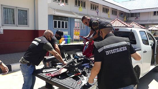รวบแก๊งลักรถจักรยานยนต์ถอดชิ้นส่วนขายแลกยาเสพติด