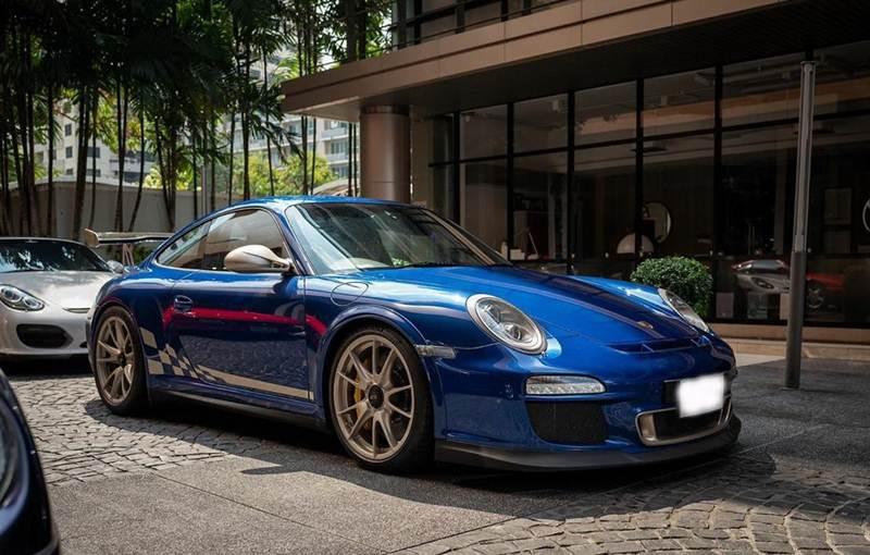 Porsche 997 GT3rs สีน้ำเงิน