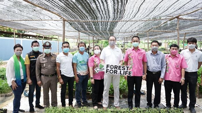 """เดินหน้าต่อ! โครงการ """"Forest For Life สร้างป่าสร้างชีวิต""""  มอบกล้าไม้อีก 144,000 ต้นให้ชาวบ้านชุมชนบ้านอำเภอ จ.ชลบุรี"""