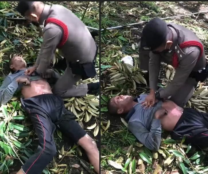 ผบ.ตร.ชมเชย 2 ตำรวจหลังสวน ปั๊มหัวใจช่วยชีวิตชายถูกไฟฟ้าช็อตตกต้นทุเรียน