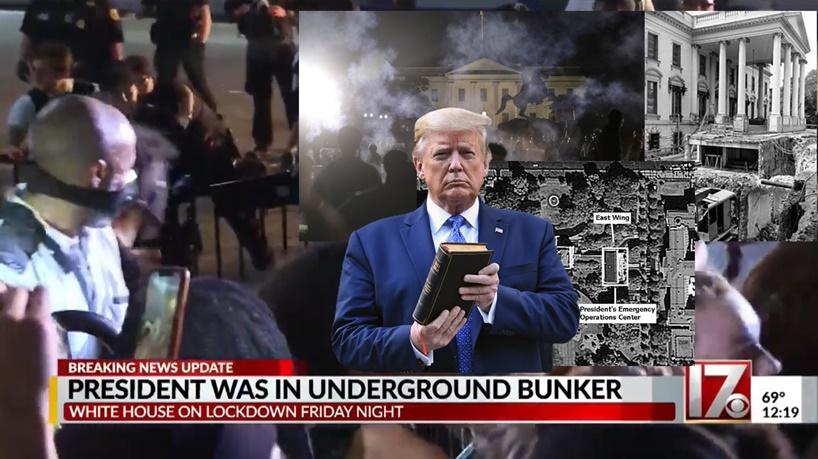 """In Clip: สื่ออเมริกันรายงาน """"ทรัมป์"""" หนีไปอยู่บังเกอร์ใต้ดินทำเนียบขาวหลังผู้ประท้วงบุกมาใกล้"""
