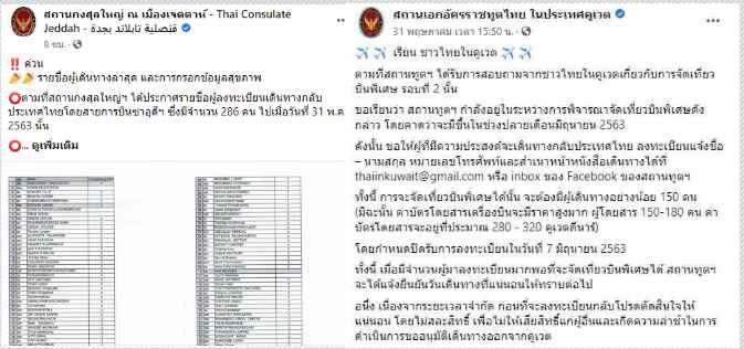 """เร่งช่วยคนไทยใน ซาอุฯ-คูเวต กลับประเทศ """"กงสุลใหญ่เมืองเจดดาห์""""แจ้ง 271 คน ส่วนคูเวต จ่อรอบสอง บินกลับปลาย มิ.ย."""
