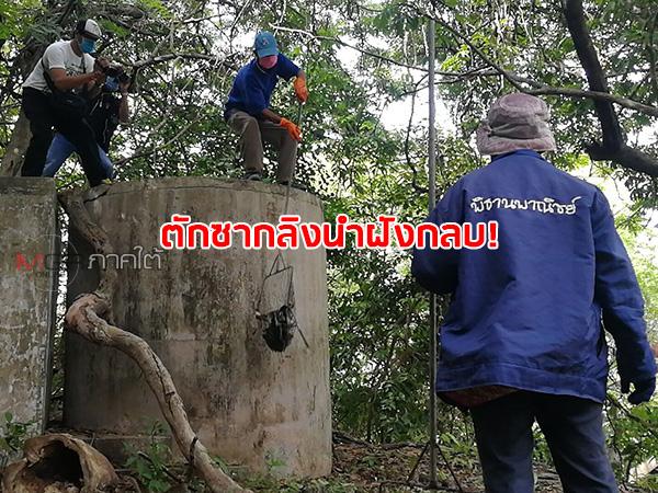 ตักซากลิง 15 ตัวนำไปฝังกลบ หลังพบตายยกฝูงอยู่ในแท็งก์น้ำบนยอดเขาตังกวน