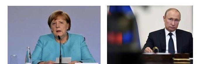อังเกลา แมร์เคิล นายกรัฐมนตรีเยอรมนี ?ประธานาธิบดีวลาดิมีร์ ปูติน แห่งรัสเซีย